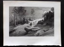 Fisher (Pub) 1846 Antique Print. The Choor Mountains, India